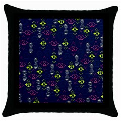 Vintage Unique Pattern Throw Pillow Case (black) by Simbadda