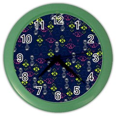 Vintage Unique Pattern Color Wall Clocks by Simbadda