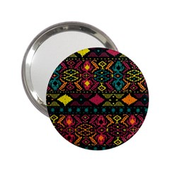 Traditional Art Ethnic Pattern 2 25  Handbag Mirrors
