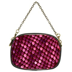 Red Circular Pattern Background Chain Purses (one Side)