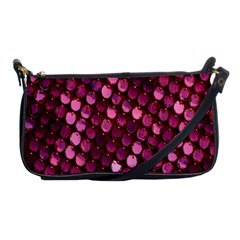 Red Circular Pattern Background Shoulder Clutch Bags