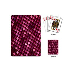 Red Circular Pattern Background Playing Cards (mini)