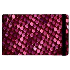 Red Circular Pattern Background Apple Ipad 2 Flip Case by Simbadda