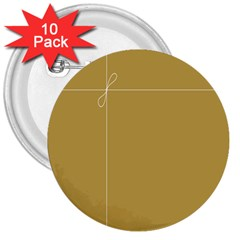 Brown Paper Packages 3  Buttons (10 Pack)