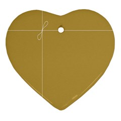 Brown Paper Packages Heart Ornament (two Sides)