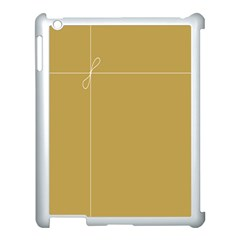 Brown Paper Packages Apple Ipad 3/4 Case (white)