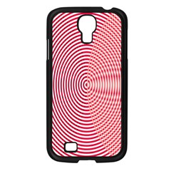 Circle Line Red Pink White Wave Samsung Galaxy S4 I9500/ I9505 Case (black)