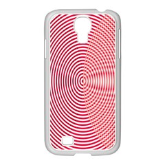 Circle Line Red Pink White Wave Samsung Galaxy S4 I9500/ I9505 Case (white) by Alisyart