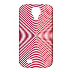 Circle Line Red Pink White Wave Samsung Galaxy S4 Classic Hardshell Case (pc+silicone) by Alisyart