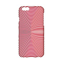 Circle Line Red Pink White Wave Apple Iphone 6/6s Hardshell Case by Alisyart