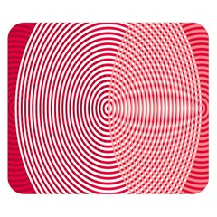 Circle Line Red Pink White Wave Double Sided Flano Blanket (small)  by Alisyart