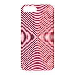 Circle Line Red Pink White Wave Apple Iphone 7 Plus Hardshell Case