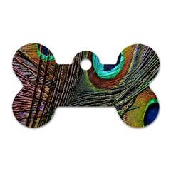 Peacock Feathers Dog Tag Bone (one Side)