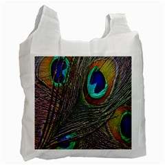 Peacock Feathers Recycle Bag (two Side)