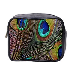 Peacock Feathers Mini Toiletries Bag 2 Side