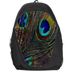 Peacock Feathers Backpack Bag