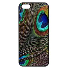 Peacock Feathers Apple Iphone 5 Seamless Case (black)