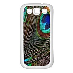Peacock Feathers Samsung Galaxy S3 Back Case (white)