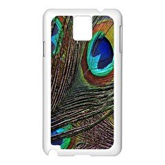Peacock Feathers Samsung Galaxy Note 3 N9005 Case (white)