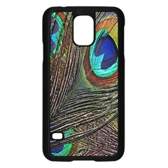 Peacock Feathers Samsung Galaxy S5 Case (black)