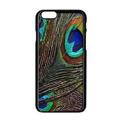 Peacock Feathers Apple Iphone 6/6s Black Enamel Case