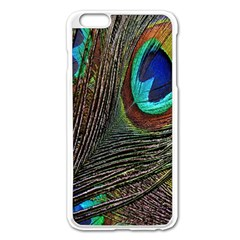 Peacock Feathers Apple Iphone 6 Plus/6s Plus Enamel White Case