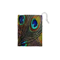Peacock Feathers Drawstring Pouches (xs)