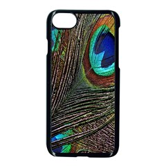 Peacock Feathers Apple Iphone 7 Seamless Case (black)