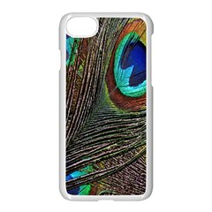 Peacock Feathers Apple Iphone 7 Seamless Case (white)