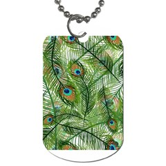Peacock Feathers Pattern Dog Tag (one Side)