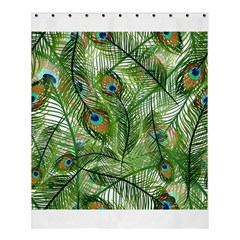 Peacock Feathers Pattern Shower Curtain 60  X 72  (medium)