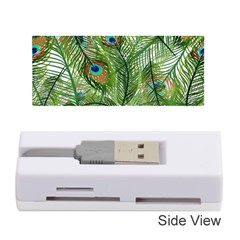 Peacock Feathers Pattern Memory Card Reader (stick)