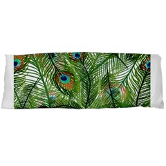 Peacock Feathers Pattern Body Pillow Case Dakimakura (two Sides)