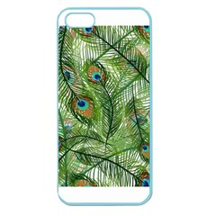 Peacock Feathers Pattern Apple Seamless Iphone 5 Case (color) by Simbadda