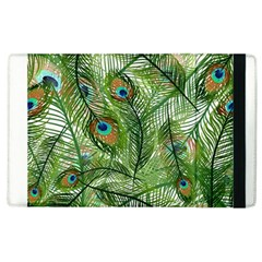 Peacock Feathers Pattern Apple Ipad 2 Flip Case