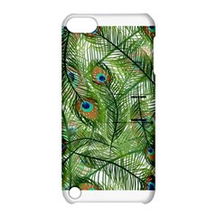 Peacock Feathers Pattern Apple Ipod Touch 5 Hardshell Case With Stand by Simbadda