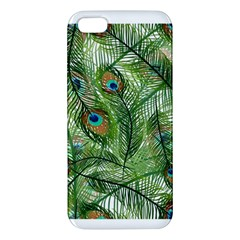 Peacock Feathers Pattern Apple Iphone 5 Premium Hardshell Case