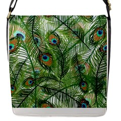 Peacock Feathers Pattern Flap Messenger Bag (s)
