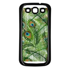 Peacock Feathers Pattern Samsung Galaxy S3 Back Case (black)