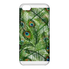 Peacock Feathers Pattern Apple Iphone 5c Hardshell Case