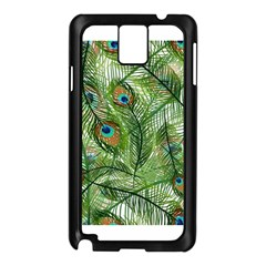 Peacock Feathers Pattern Samsung Galaxy Note 3 N9005 Case (black)