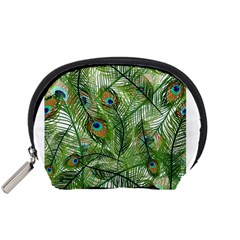 Peacock Feathers Pattern Accessory Pouches (small)