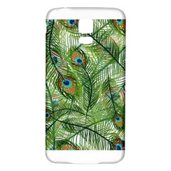 Peacock Feathers Pattern Samsung Galaxy S5 Back Case (white)