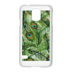 Peacock Feathers Pattern Samsung Galaxy S5 Case (white)