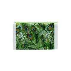 Peacock Feathers Pattern Cosmetic Bag (xs)