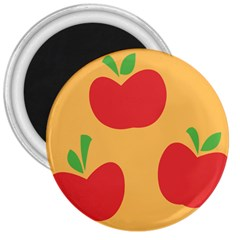 Apple Fruit Red Orange 3  Magnets