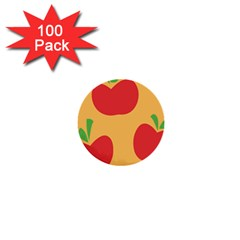 Apple Fruit Red Orange 1  Mini Buttons (100 Pack)