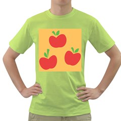 Apple Fruit Red Orange Green T Shirt
