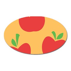 Apple Fruit Red Orange Oval Magnet