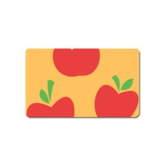 Apple Fruit Red Orange Magnet (name Card)